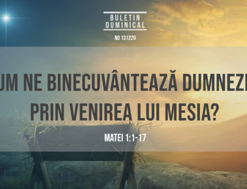 Buletin Duminical 13.12.2020
