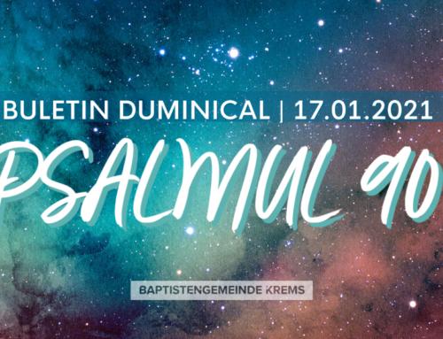 Buletin Duminical 17.01.2021