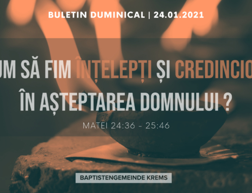 Buletin Duminical 24.01.2021